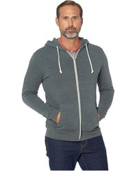 Threads For Thought Triblend Zip Front Hoodie - Gray