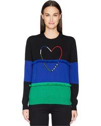 Paul Smith - Heart Color Block Sweater (navy) Women's Sweater - Lyst