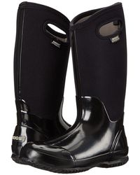 Bogs - Classic High Handles (black Shiney) Women's Boots - Lyst