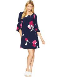 Lauren by Ralph Lauren - B147-galleria Floral Matte Jersey-tycenda (lighthouse Navy/pink/multi) Women's Dress - Lyst