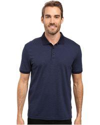 Calvin Klein - Liquid Cotton Stripe Polo (soft White Combo) Men's Short Sleeve Knit - Lyst