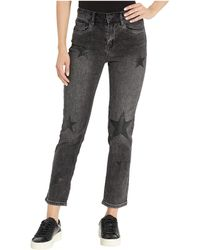 Blank NYC Star Patched High-rise Crop Jeans In Before After - Black