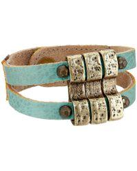 Leatherock - B657 (turquoise) Bracelet - Lyst