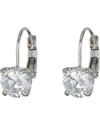 Cole Haan - Lever Back Cubic Zirconia Earrings (silver/crystal) Earring - Lyst