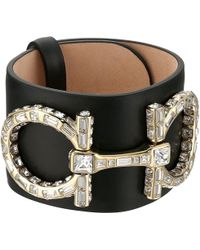 Ferragamo - Cuff Strass Bracelet - Lyst