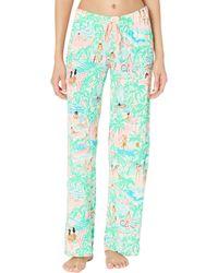 Lilly Pulitzer Pj Knit Pants Pajama - Green