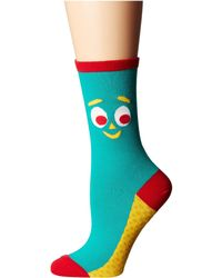 Socksmith - Gumby (gumby Green 1) Women's Crew Cut Socks Shoes - Lyst