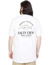 Salty Crew Gt Short Sleeve Tee Clothing - White