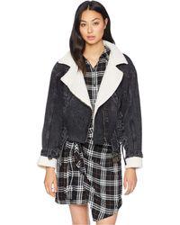Astr - Jefferson Jacket (black Wash Denim) Women's Coat - Lyst