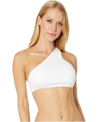 Polo Ralph Lauren Ribbed Solids One Shoulder Bra - White