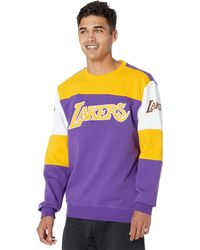 Mitchell & Ness Nba Perfect Season Crew Fleece Lakers - Purple