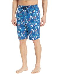 Tommy Bahama Printed Woven Jams - Blue
