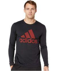 adidas - Badge Of Sport Mesh Long Sleeve (collegiate Navy) Men's Long Sleeve Pullover - Lyst