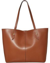 J.Crew Bonded Leather Tote - Brown