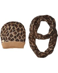 Betsey Johnson | Wild Side Two-piece Set Hat And Infinity | Lyst