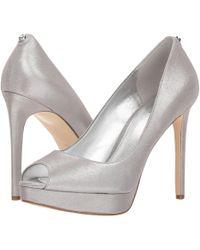 MICHAEL Michael Kors - Erika Platform (silver/sand Glitter Mesh) High Heels - Lyst