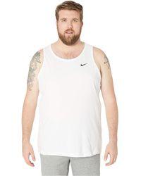 79265b0f7c9556 Nike - Big Tall Dry Tank Top Dri-fit Cotton Solid (black Heather
