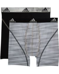 adidas - Sport Performance Climalite Graphic 2-pack Boxer Brief (white Ratio Black) Men's Underwear - Lyst