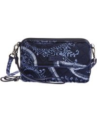 Vera Bradley - Iconic Rfid All-in-one Crossbody (classic Black) Cross Body Handbags - Lyst