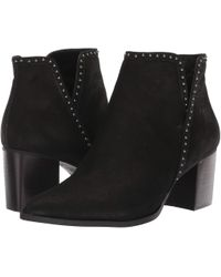 Sole Society - Dalphine (black Tumbled Buff Goat) Women's Boots - Lyst