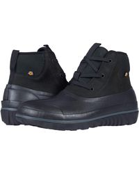 Bogs Casual Lace Leather - Black