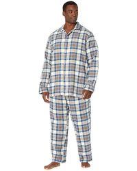 L.L. Bean Scotch Plaid Flannel Sleep Pants Tall - Blue