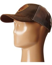 Ariat Oilskin Logo Cap Caps - Brown