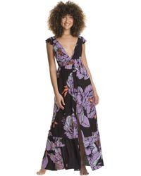 Maaji Queen Glowy Long Dress Cover-up Swimwear - Black