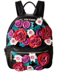 Betsey Johnson - Gypsy Rose Flower Applique Backpack - Lyst