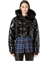 The Kooples - Glossy Down Jacket (black) Women's Coat - Lyst