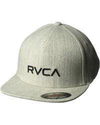 RVCA - Sport Flexfit (heather Grey) Caps - Lyst dee6b0e0b75b