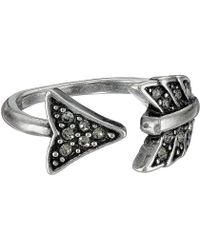 House of Harlow 1960 - Arrow Affair Midi Ring (silver) Ring - Lyst