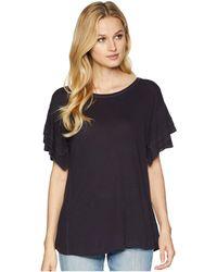 NIC+ZOE - Road Trip Ruffle Tee (nightshade) Women's T Shirt - Lyst