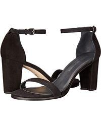 Stuart Weitzman Nearlynude Ankle Strap City Sandal - Black