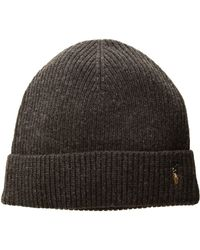 815d38969a8 Polo Ralph Lauren - Signature Merino Cuff Hat (aged Wine Heather) Caps -  Lyst