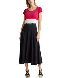 Lauren by Ralph Lauren Tie-dye Maxi Dress - Black
