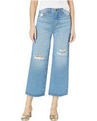 BCBGeneration - Five-pocket Gaucho Jeans In Destructed Light Wash - Lyst