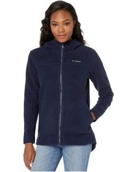 Columbia Canyon Pointtm Hooded Sherpa Full Zip - Blue