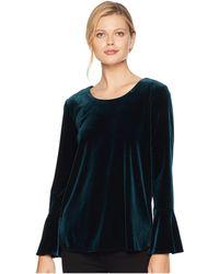 Calvin Klein - Velvet Long Sleeve Bell Sleeve Top (malachite) Women's Clothing - Lyst