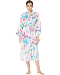 N By Natori - Pastel Blossom Robe (aqua Floral) Women's Robe - Lyst
