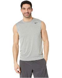 03fc9b38 Nike - Legend 2.0 Sleeveless Tee (black/black/matte Silver) Men's T