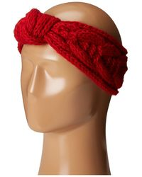 San Diego Hat Company - Knh3443 Cable Knit Knot Headband (red) Headband - Lyst