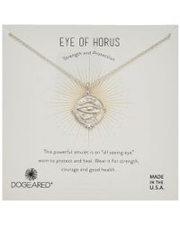 Dogeared - Eye Of Horus Coin Necklace - Lyst