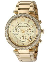 Michael Kors - Mk5354 - Parker Chronograph (gold Ip) Chronograph Watches - Lyst