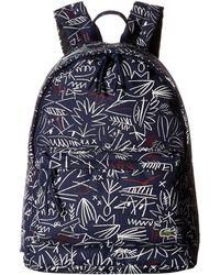 Lacoste - Neocroc Graphic Canvas Backpack - Lyst