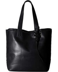 Frye - Carson Mono Stud Tote (black Oiled Veg) Tote Handbags - Lyst