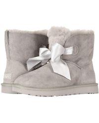 cb4f713f8922 UGG - Gita Bow Mini Boot (seal) Women s Pull-on Boots - Lyst