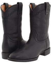 Ariat - Heritage Roper (black) Cowboy Boots - Lyst