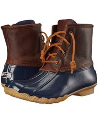 Sperry Top-Sider - Saltwater Water-Resistant Leather Boots - Lyst