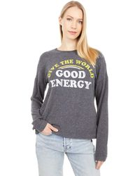 The Original Retro Brand Give The World Good Energy Super Soft Haaci Pullover Clothing - Black